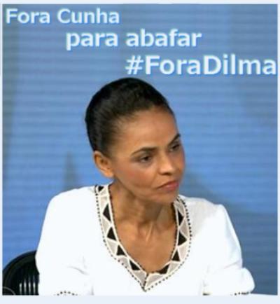 ForaCunha é golpe petista apara abafar o fora Dilma diz Marina Silva 40