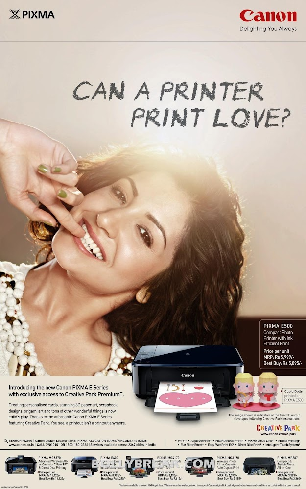 Anushka sharma on Canon Printer Print Ad  - Anushka sharma HD Canon Printer Print Ad Photo