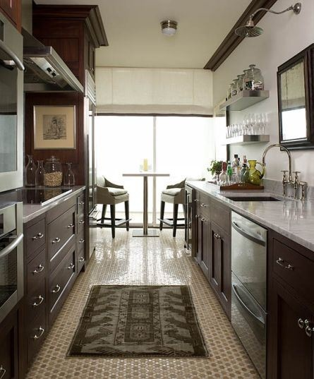 Small Kitchen With Reflective Surfaces: Eye For Design: Create A Lovely Galley Kitchen