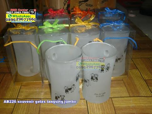 souvenir gelas langsing jumbo murah
