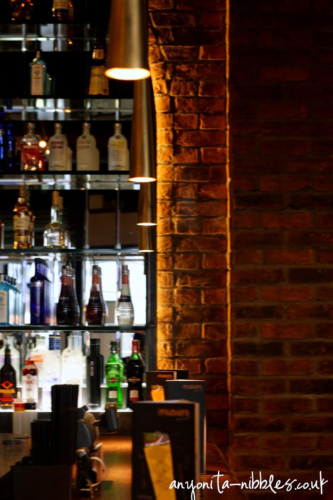Behind the bar statement wall at TGI Friday's Manchester Piccaddilly | Anyonita-nibbles.co.uk