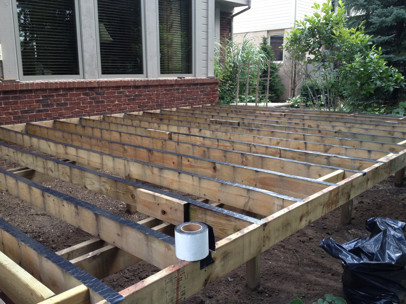 Outdoor living replace your decking for Timber deck construction
