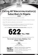 NCC TOLL FREE NUMBER