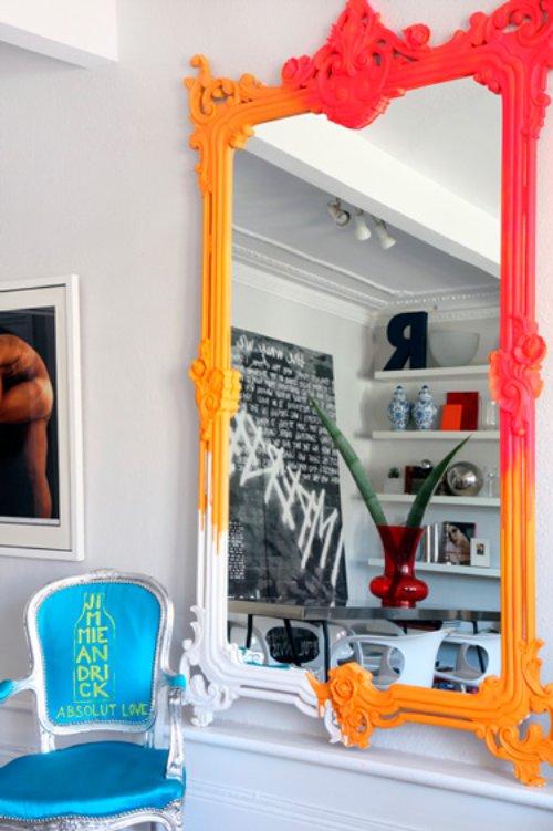 Espelho colorido
