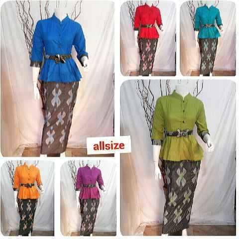 Jual Baju Setelan Batik Wanita Modern Model Atasan dan Bawahan