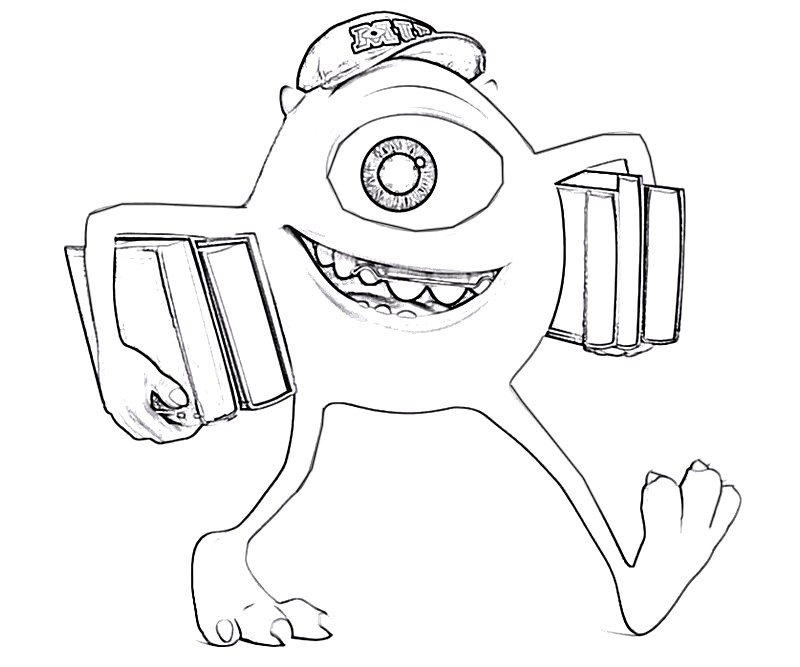 #6 Monsters University Coloring Page