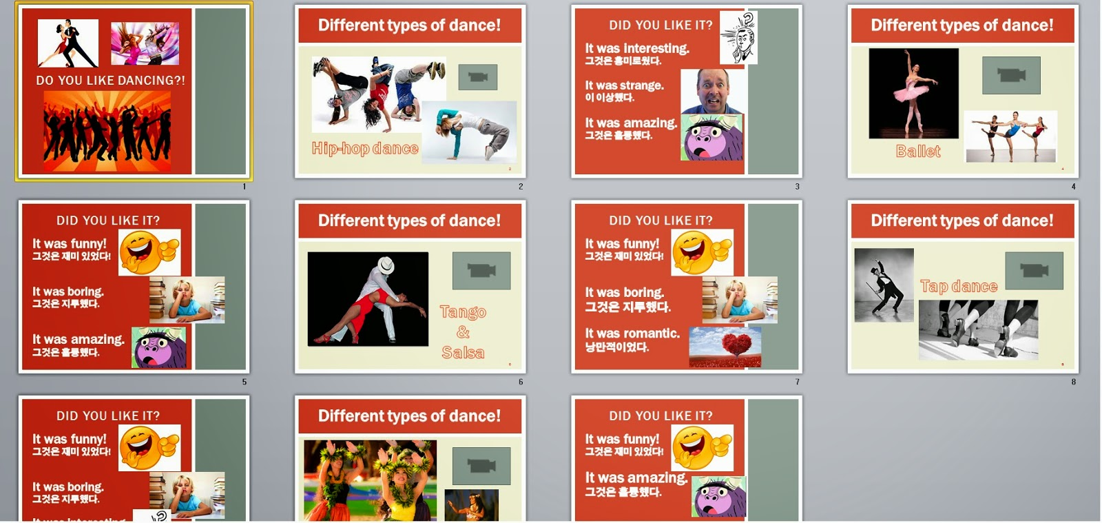 do you like dancing powerpoint lesson for fun esl mrs baia s
