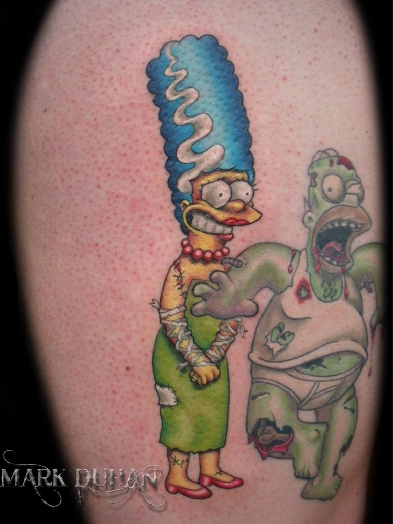 Funny homer tattoos tattoos facebook for Homer simpson tattoos