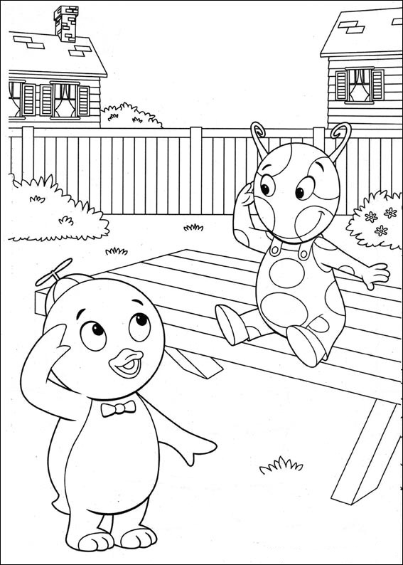 Fun coloring pages the backyardigans coloring pages for Free backyardigans coloring pages