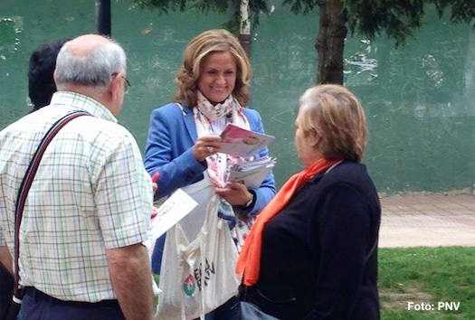 Amaia del Campo, durante la campaña