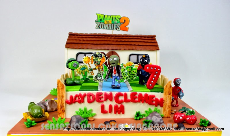 Plants Vs Zombies Birthday Cake Singapore