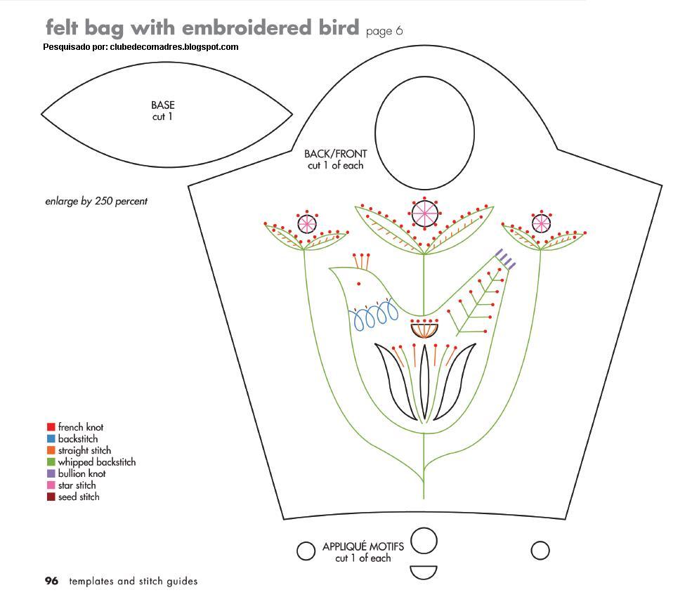Bolsa Em Feltro Molde : Bom de fazer bolsa em feltro