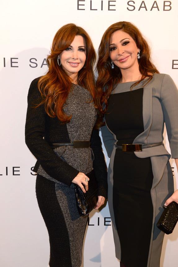 Nancy Ajram in Paris at Elie Saab Haute Couture Show Photos