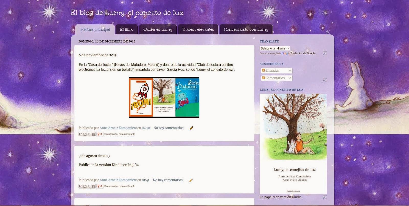 El blog de Lumy, el conejito de luz