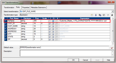 informatica power center mapping for dynamic file name