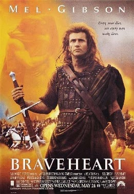 Braveheart Mel Gibson 1995