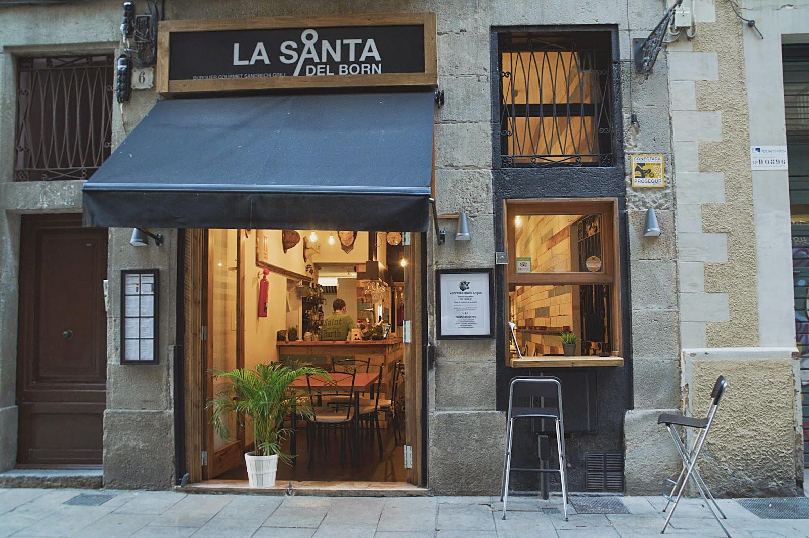 La Santa del Born, hamburguesería y sandwich Barcelona, el santo