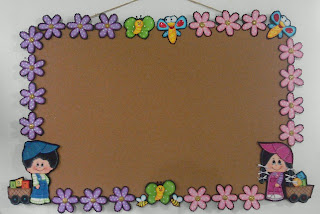 Cartelera informativa en corcho madera y foamy mis tablas for Modelos de carteleras informativas