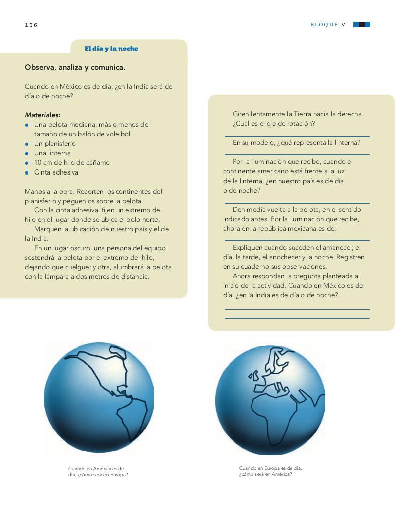 Los movimientos de la luna y la tierra - Ciencias Naturales 4to Bloque 5 2014-2015