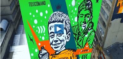 Los murales de Bogotá desde el aire