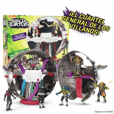 TOYS : JUGUETES - LAS TORTUGAS NINJA 2  Technodrome Playset - El cuartel general de los villanos  Ninja Turtles 2 Fuera de las sombras Producto Oficial Película 2016 | Giochi Preziosi | A partir de 4 años Comprar en Amazon España | Figuras no incluidas