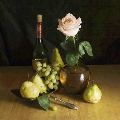 bodegon-con-vino-y-rosas