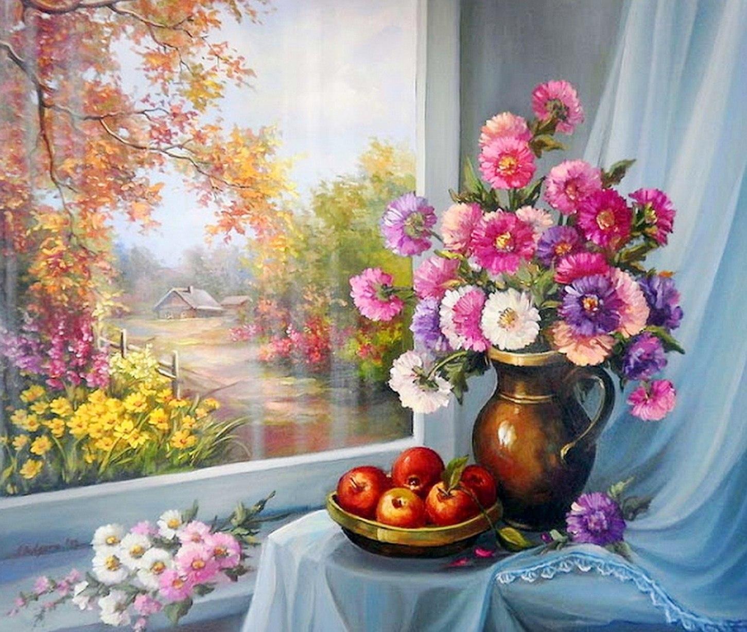 Im genes arte pinturas cuadros impresionistas de bodegones - Cuadros pintados con spray ...
