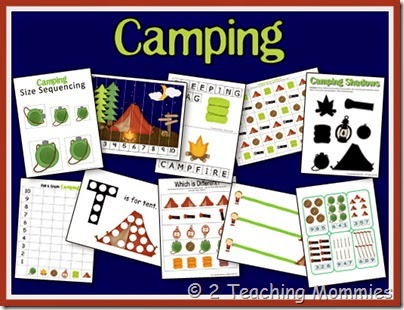 Your Campers Will Love School Time With These FREE Camping Themed Educational Printables From A Teaching Mommy