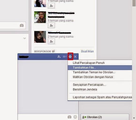 Cara Mengirim File Berkas Dengan Facebook