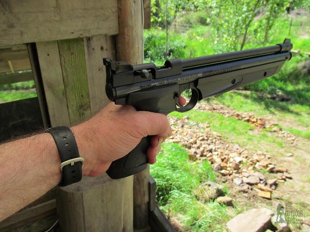 Crosman 1322 Air Pistol - In Hand