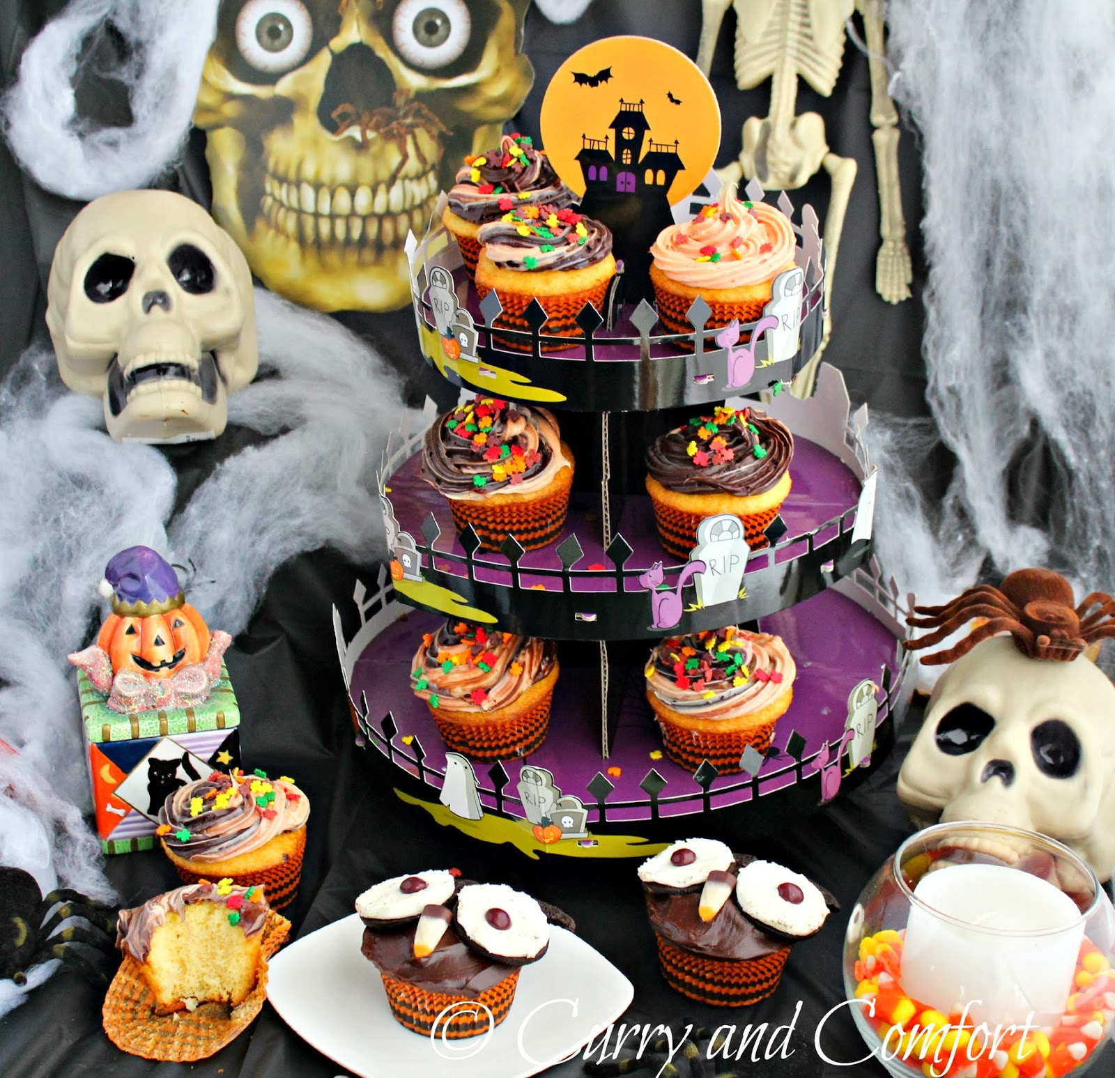 sweet creations by good cook asked me to make some fun decorated cupcakes for a halloween themed party i had so much fun decorating the owl cupcake and the
