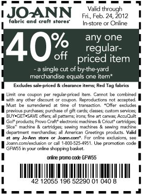 Free printable coupons joann coupons for Jo ann fabric and craft coupons
