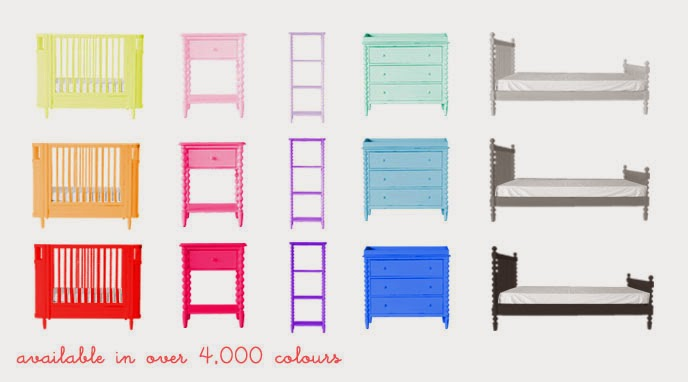 The Baby Closet: NEW Incy Interiors \'Custom Colour\' Spindle Range of ...