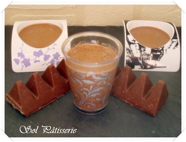 Mousse de chocolate toblerone