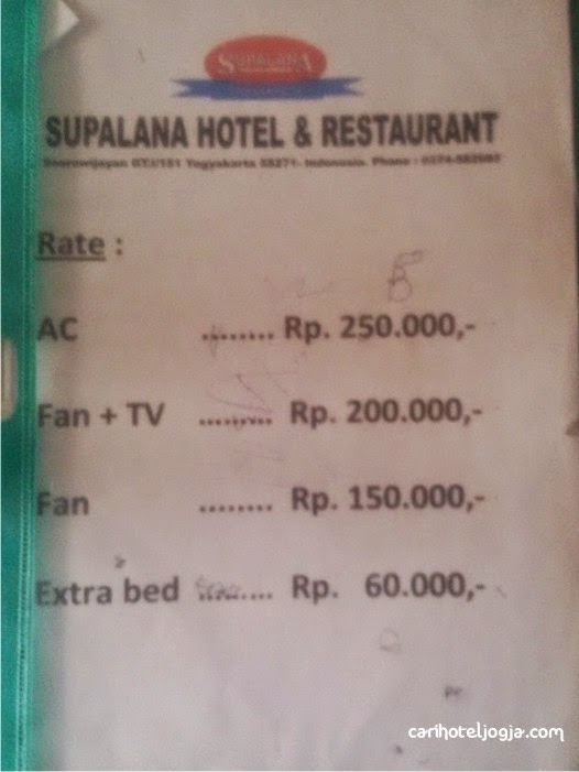 Supalana Hotel Murah Jogja