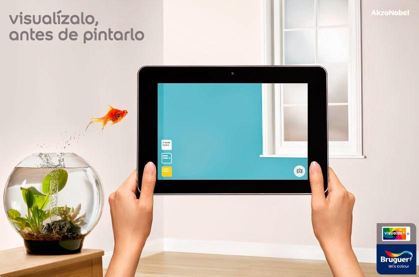 La nueva app de bruguer visualizer para visualizar el - Programa para pintar paredes ...