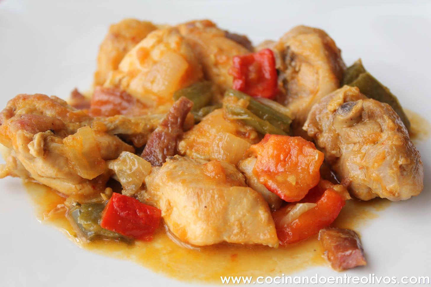 Pollo al chilindr n receta paso a paso cocinando entre for Maneras de cocinar pollo