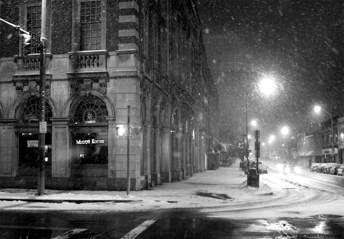 City Night in winter snowy wallpaper by BillGate