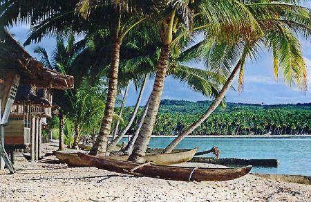Beautiful beach on the island of Nias