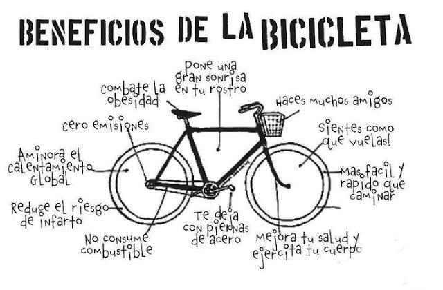 beneficios, ventajas, bicicleta, deporte, salud