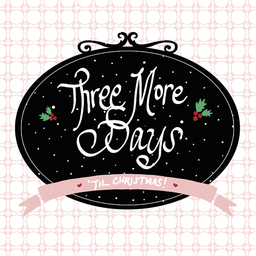 Three More Days Illustration, Handdrawn illustration
