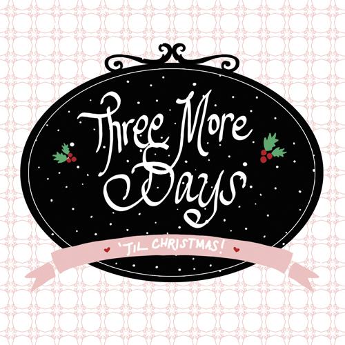Three More Days Illustration, Handdrawn illustration