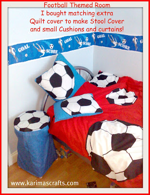 football theme bedroom