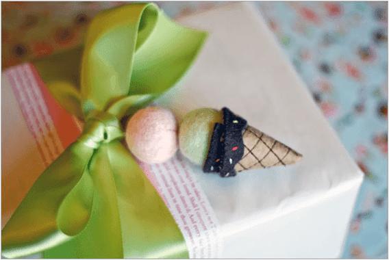 Külah Dondurma Şeklinde Hediye Süsü