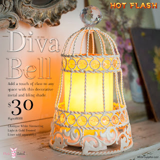 Pink Zebra Diva Bell Shade