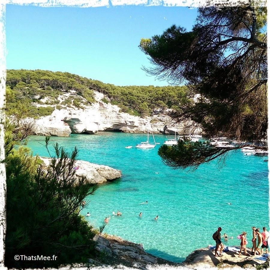 Menorca Minorque Baleares Espagne vacances holidays plage beach playa Europe Cala Mitjana crique