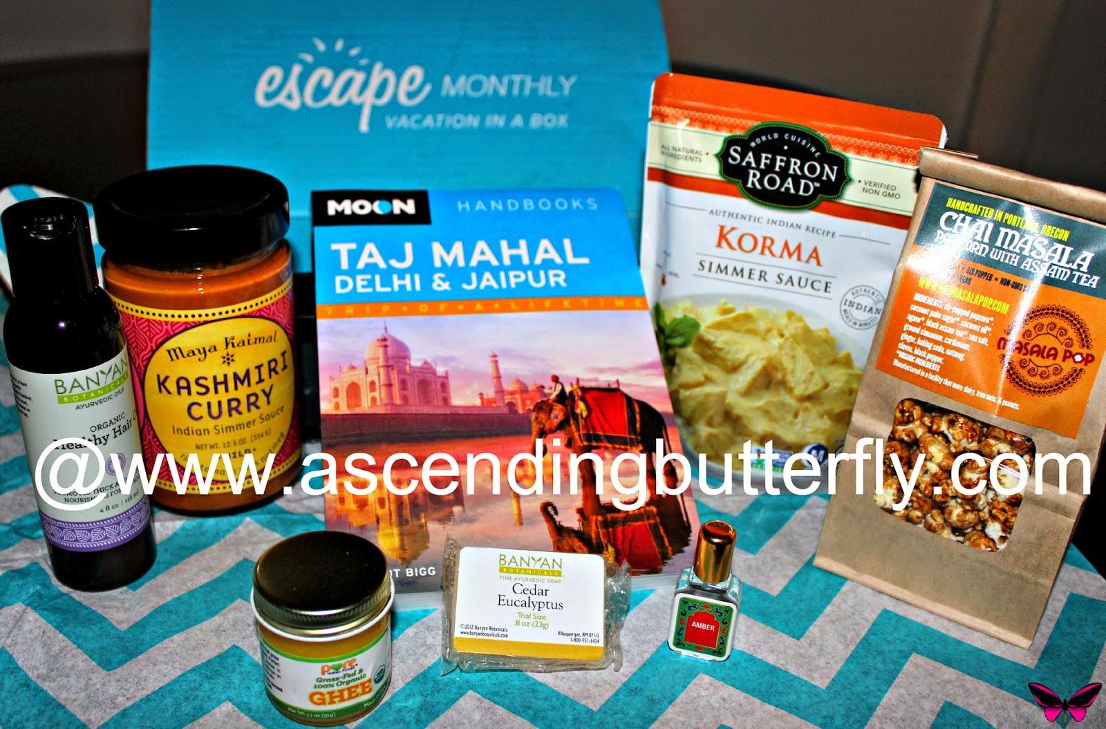 escape monthly subscription Box July destination India