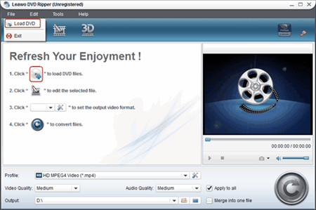 DVD Ripper load DVD