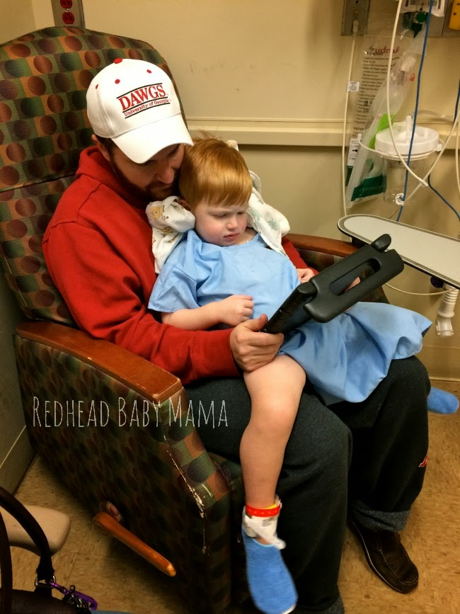 Discharge and Recovery means a snack, a drink, and snuggle time before going home - Redhead Baby Mama