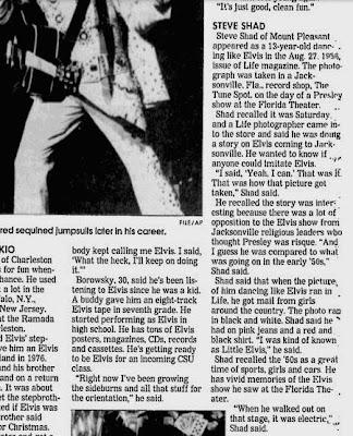 Elvis Impersonators, The Post & Courier, August 11, 2002